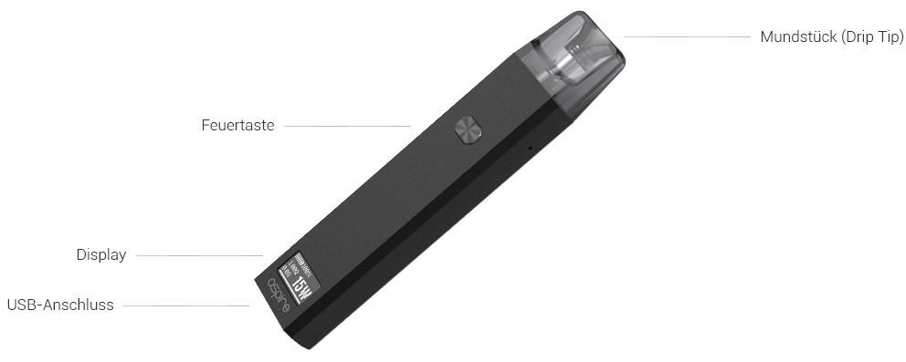 Aspire Favostix E-Zigaretten Set im Detail