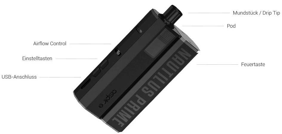 Aspire Nautilus Prime E-Zigaretten Set im Detail