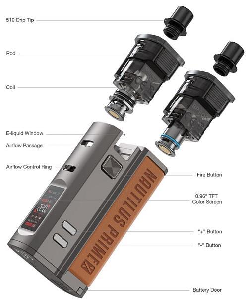 Aspire Nautilus Prime X E-Zigaretten Set im Detail