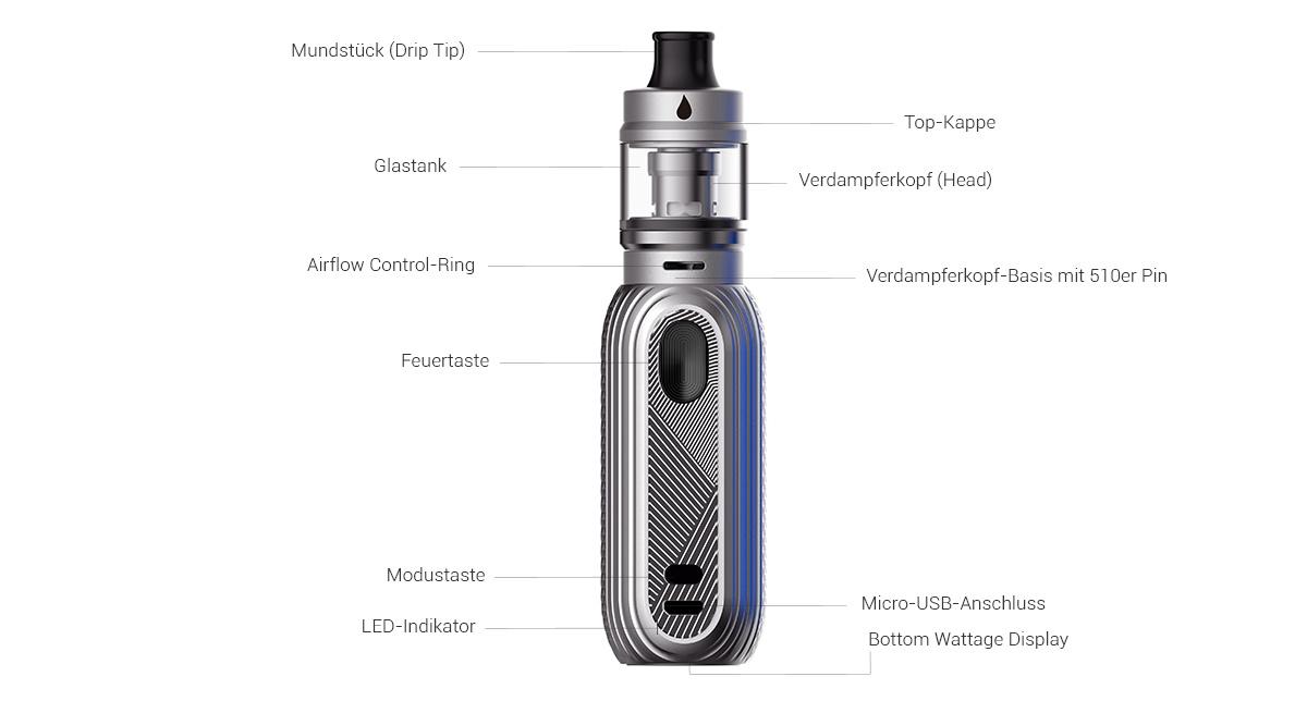 Aspire Reax Mini E-Zigaretten Set detail