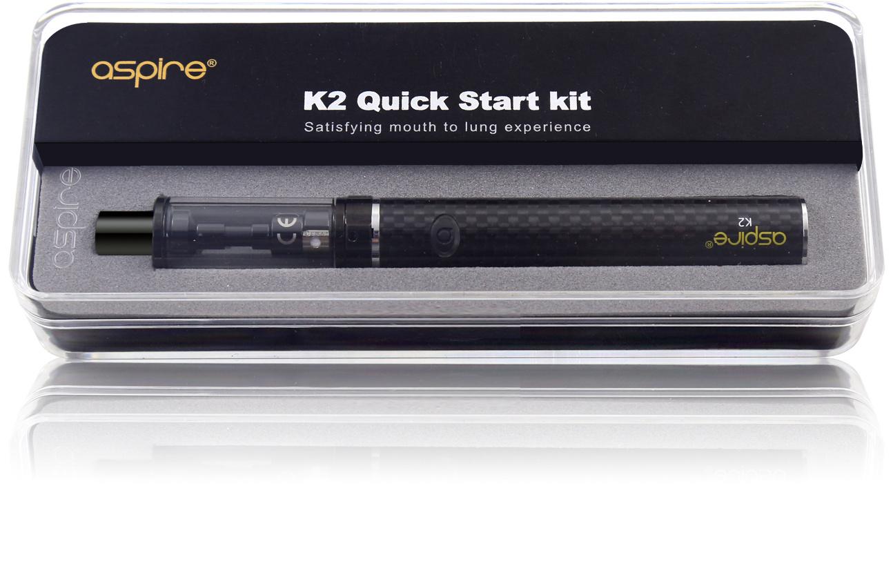 Aspire K2 E-Zigaretten Starter Set in der Verpackung