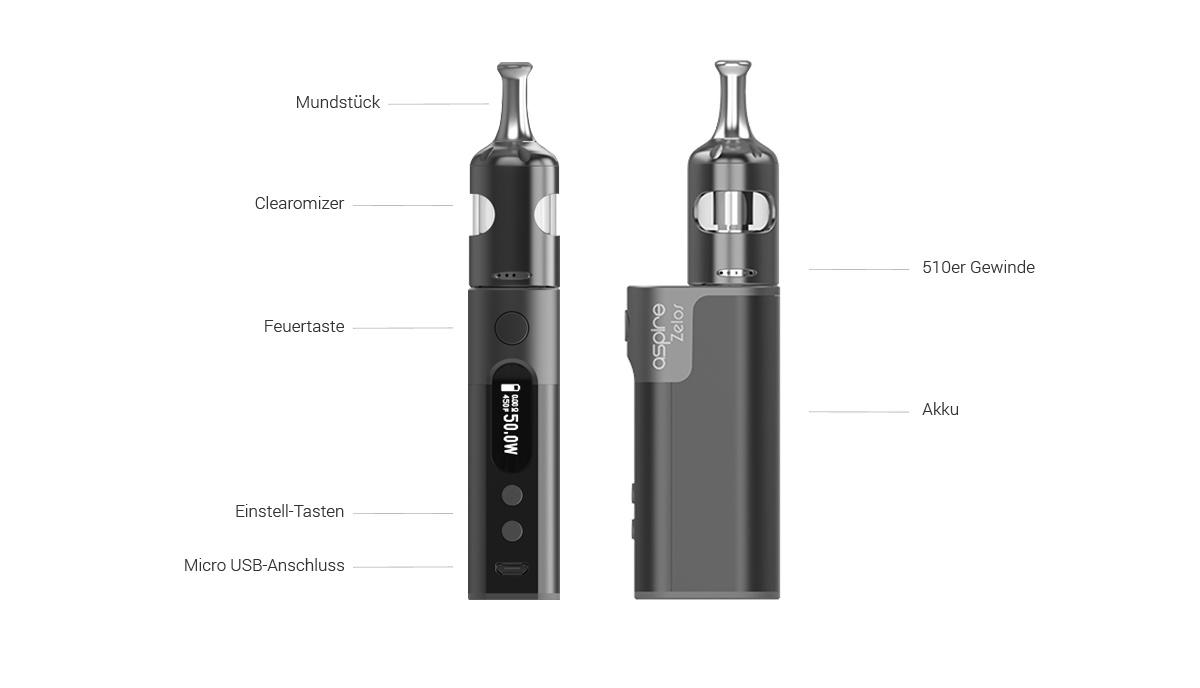 Aspire Zelos 2.0 E-Zigaretten Set detail