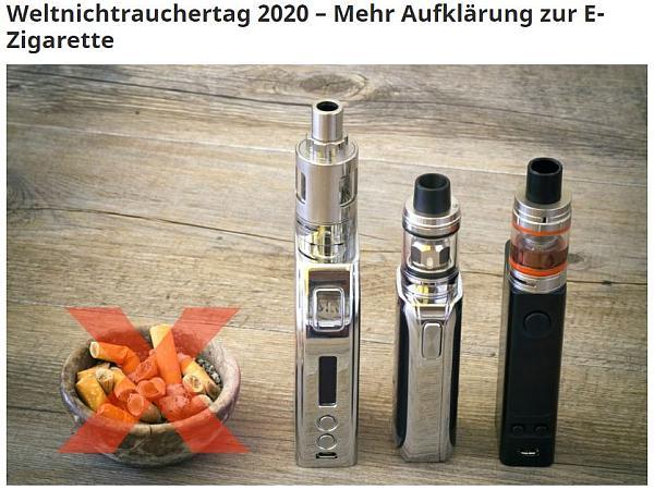 E-Zigarette vs. Rauchen