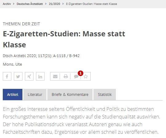 Ute Mons im deutschen Ärzteblatt