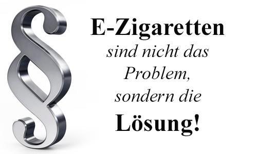 E-Zigarette ist nicht das Problem sondern die Lösung