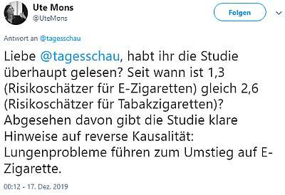 Twitter Kommentar von Ute Mons