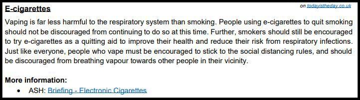 E-Zigaretten sind 95% weniger schädlich als Tabakzigaretten