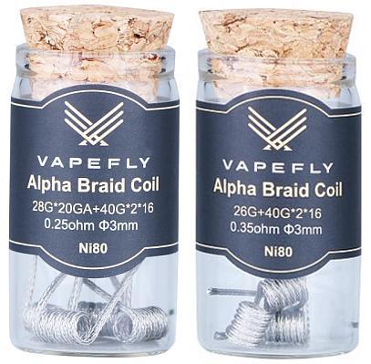 Vapefly Ni80 Alpha Braid Clapton Coil