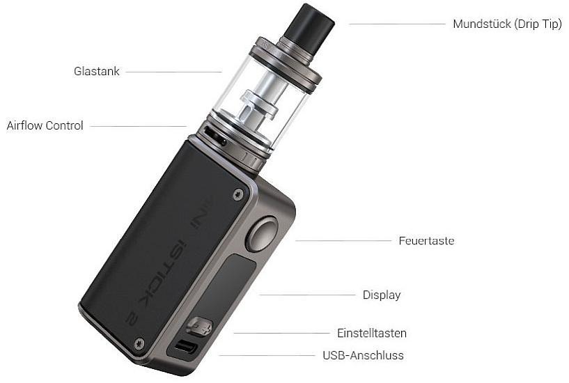 Eleaf Mini iStick 2 E-Zigaretten Set im Detail