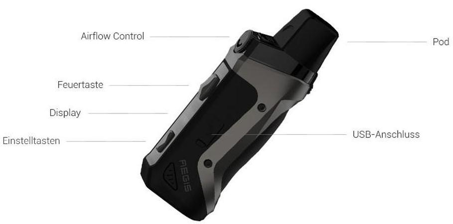 Die GeekVape Aegis Boost E-Zigarette im detail