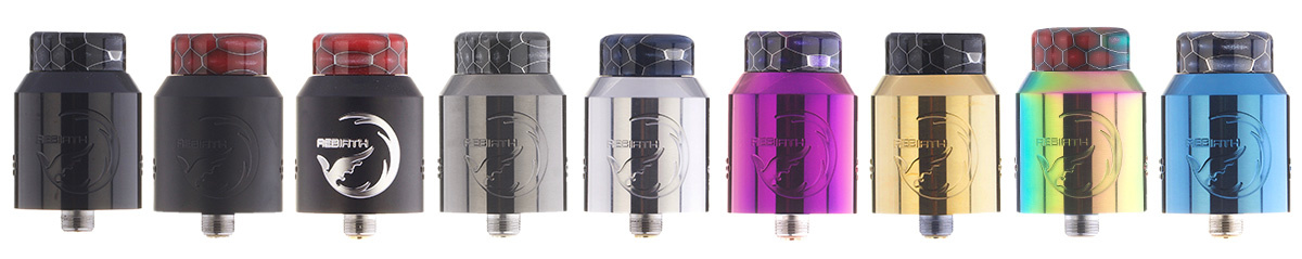 HellVape Rebirth RDA Clearomizer Set alle Farben