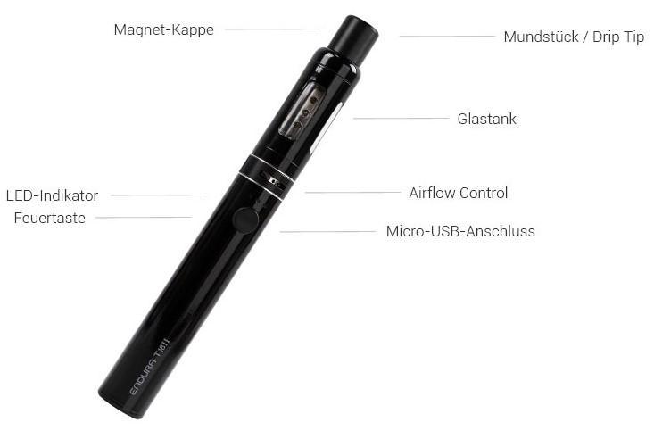 Endura T18 2 E-Zigaretten Set im Detail