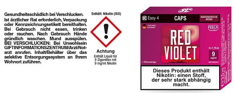 SC Easy 4 Caps Red Violet Amarenakirsche 9mg/ml