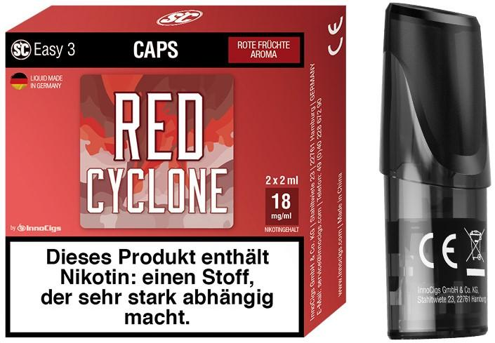 Easy 3 Red Cyclone Packung und Cap