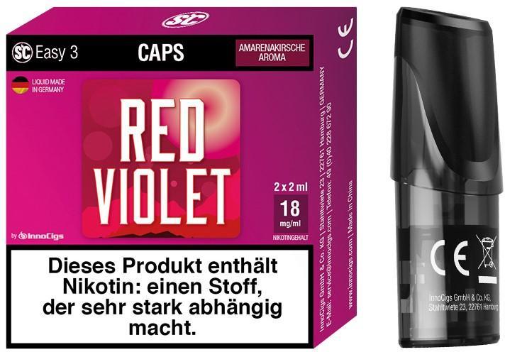 Easy 3 Red Violet Packung und Cap