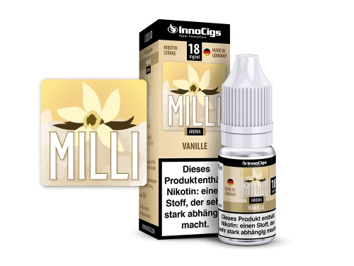Milli Vanille Aroma - Liquid für E-Zigaretten 18 mg/ml