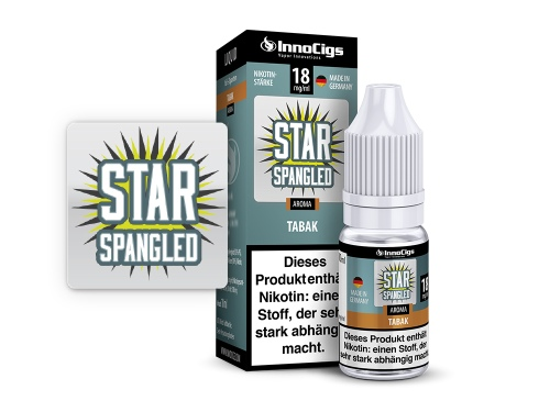 Star Spangled Tabak Aroma - Liquid für E-Zigaretten 9 mg/ml