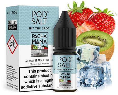 Pod Salt Fusion - Strawberry Kiwi Ice - E-Zigaretten Nikotinsalz Liquid