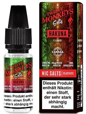 Twelve Monkeys - Hakuna Nikotinsalz Liquid 20mg Flasche
