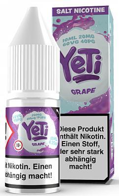 Yeti - Grape - E-Zigaretten Nikotinsalz Liquid 20mg/ml