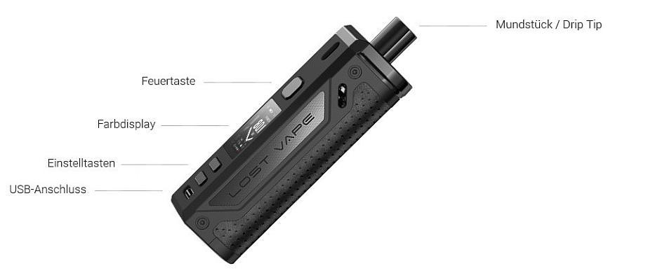 Lost Vape Thelema Pod Mod E-Zigaretten Set im Detail