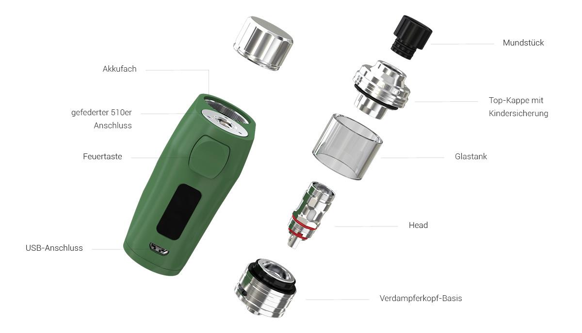 iStick Pico X E-Zigaretten Set im Detail
