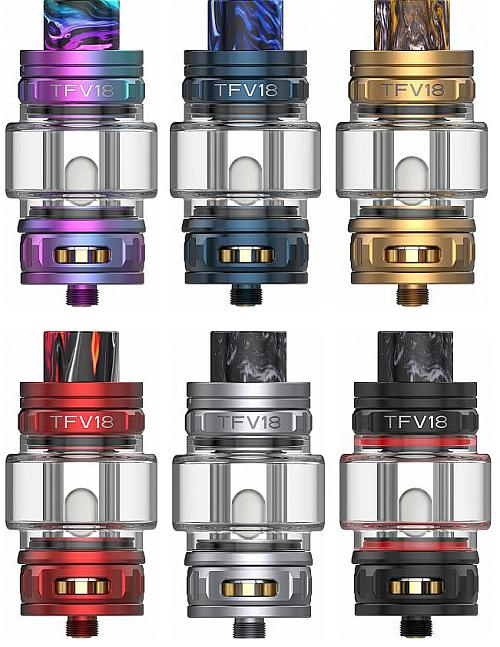 SMOK TFV18 Clearomizer Set alle Farben