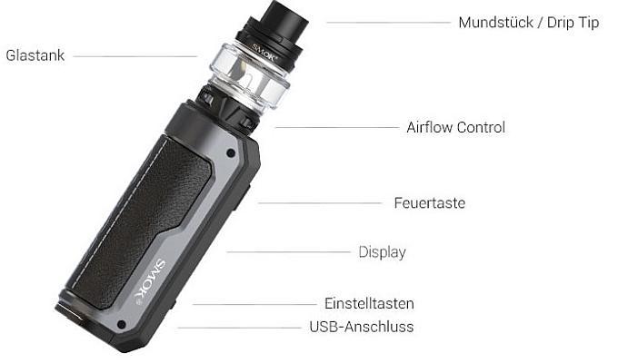 SMOK Fortis E-Zigaretten Set im Detail