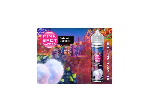 Pink Spot Shake & Vape Flasche Blue Raz Confection