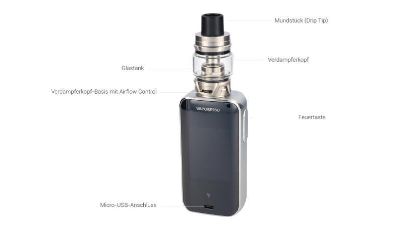 Vaporesso Luxe S E-Zigaretten Set im Detail