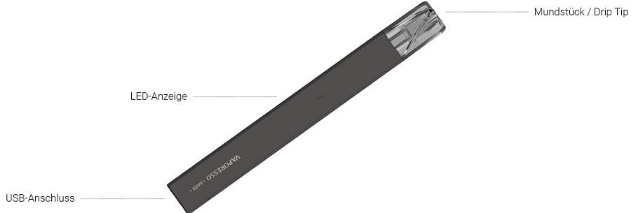 BARR E-Zigarette von Vaporesso im Detail