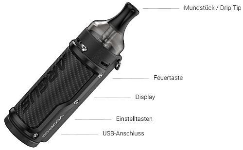 VooPoo Argus E-Zigaretten Set im Detail