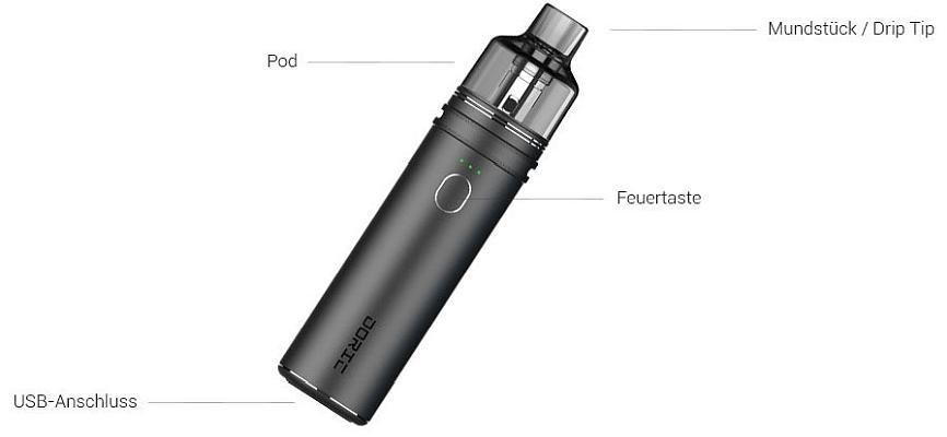VooPoo Doric 60 E-Zigaretten Set im Detail