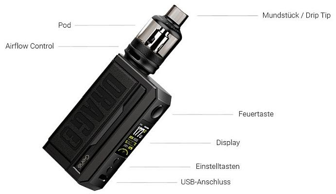 VooPoo Drag 3 E-Zigaretten Set im Detail