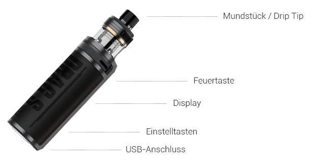 VooPoo Drag S Pro E-Zigaretten Set im Detail