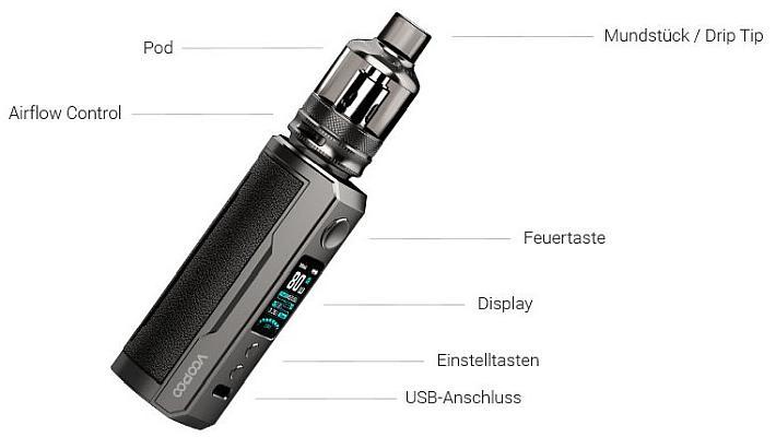 VooPoo Drag X Plus E-Zigaretten Set im Detail