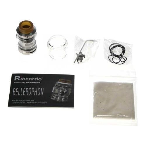 Lieferumfang für Wismec Bellerophon RTA Clearomizer Set