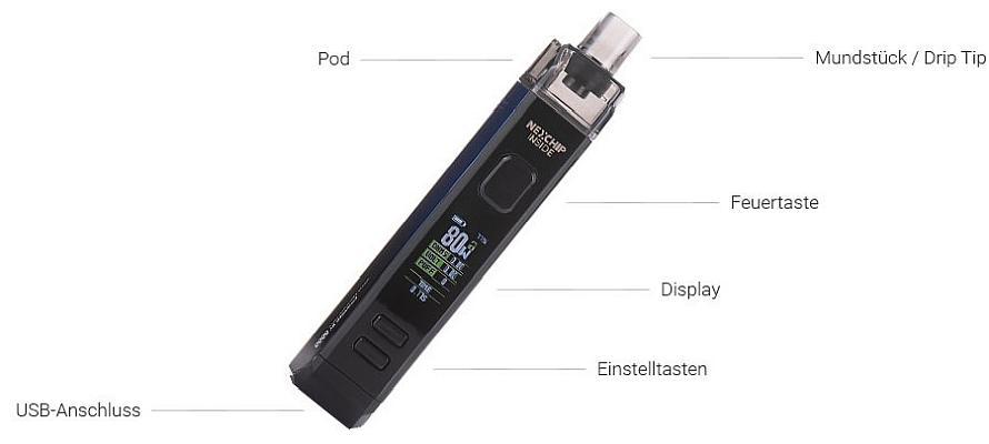 Wotofo SMRT Pod E-Zigaretten Set im Detail
